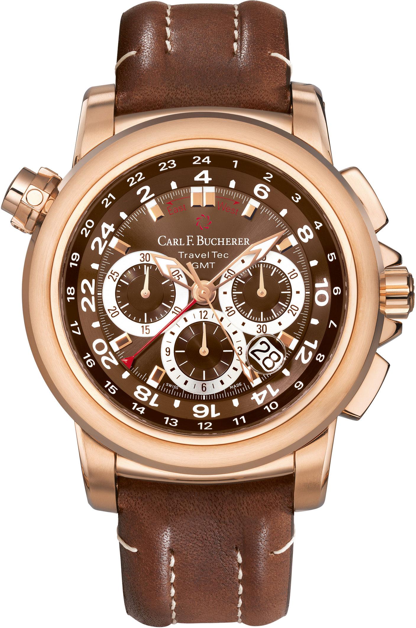 Image of Carl F. Bucherer Patravi Traveltec GMT Mens Watch Model 00.10620.03.93.01
