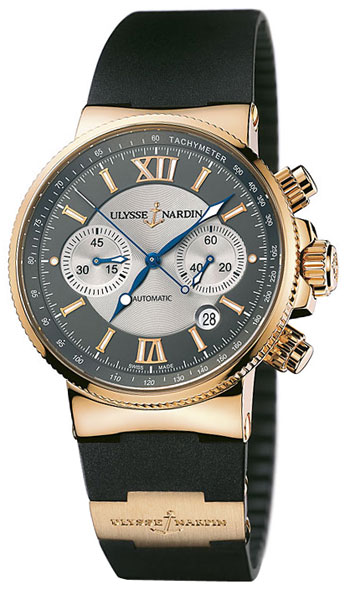 Image of Ulysse Nardin Maxi Marine Chronograph Mens Watch Model 356-66-3.319