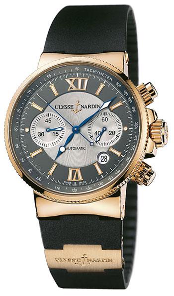 Image of Ulysse Nardin Maxi Marine Chronograph Mens Watch Model 356-66-3.319
