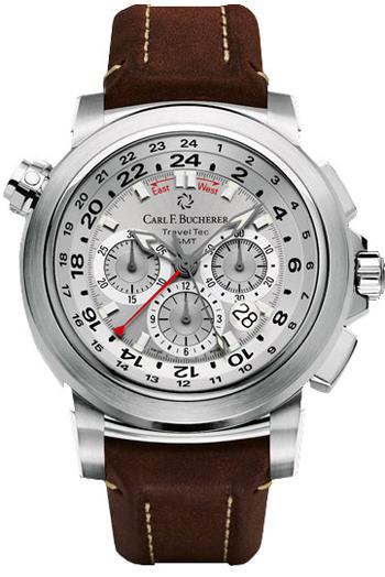 Image of Carl F. Bucherer Patravi Traveltec GMT Mens Watch Model 00.10620.08.63.01