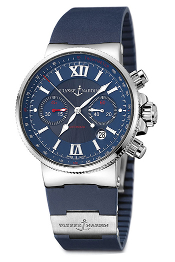 Image of Ulysse Nardin Maxi Marine Chronograph Mens Watch Model 353-66-3-323