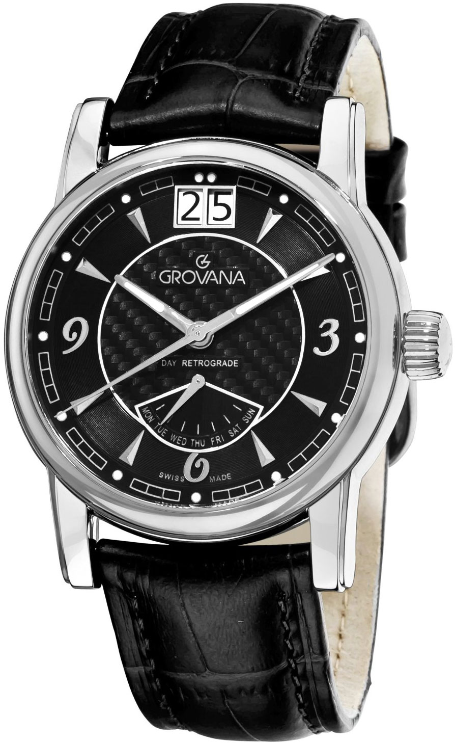 Image of Grovana Day Retrograde Mens Watch Model 1721.1537