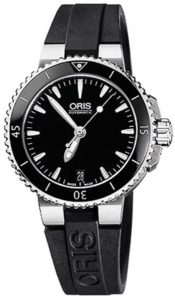 Image of Oris Aquis Date Ladies Watch Model 733.7652.4154.RS