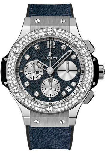 Image of Hublot Big Bang Glossy Jeans Diamonds Ladies Watch Model 341.SX.2710.NR.1104.JEANS14
