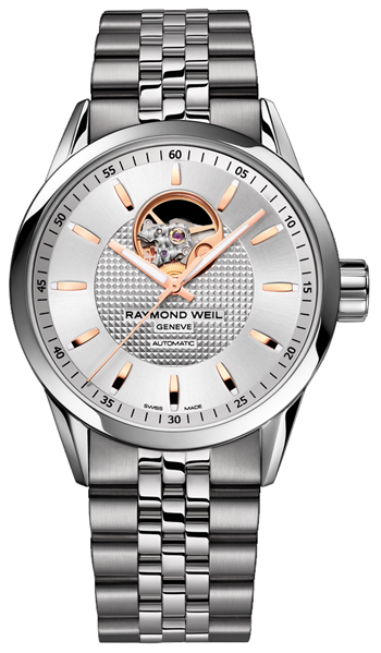 Image of Raymond Weil Freelancer Automatic Open Balance Wheel Mens Watch Model 2710-ST5-65021