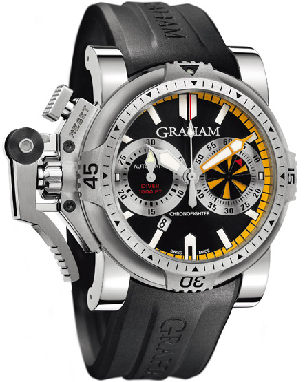 Image of Graham Chronofighter Oversize Diver Turbo Mens Watch Model 2OVES.B15A
