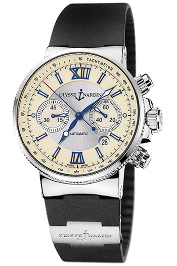 Image of Ulysse Nardin Maxi Marine Chronograph Mens Watch Model 353-66-3.314
