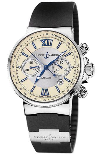 Image of Ulysse Nardin Maxi Marine Chronograph Mens Watch Model 353-66-3.314