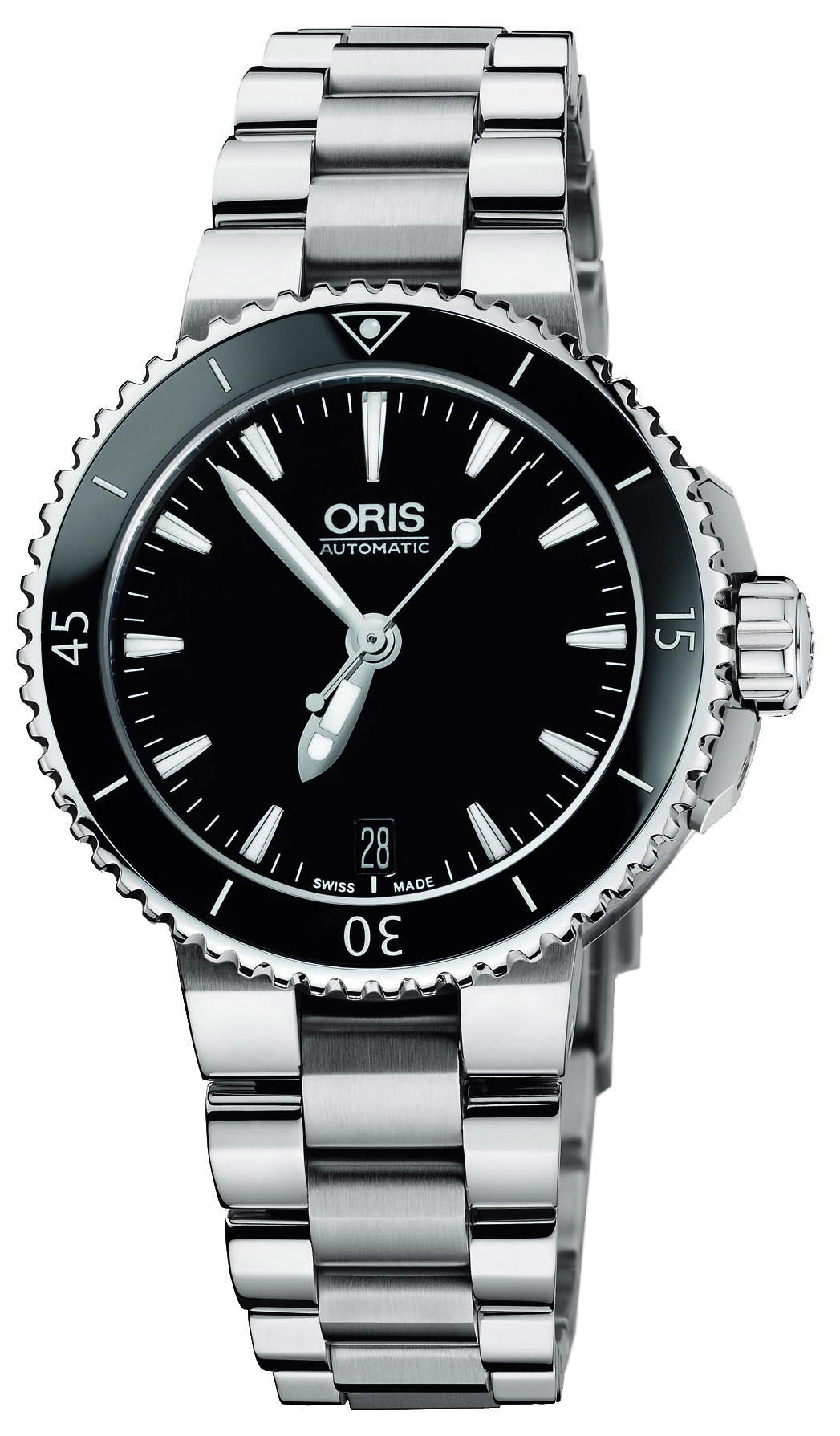 Image of Oris Aquis Date Ladies Watch Model 733.7652.4154.MB