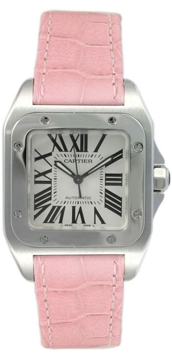 Image of Cartier Santos 100 Ladies Watch Model W20126X8