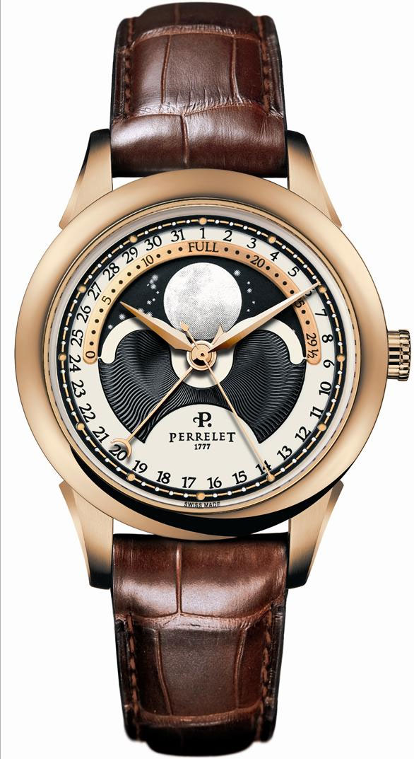 Image of Perrelet Moonphase Mens Watch Model A3013.1